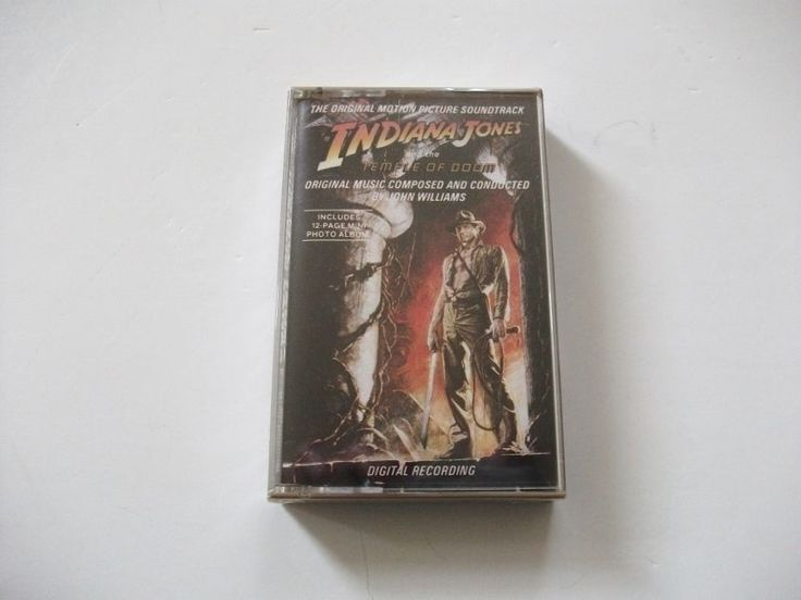 nice Indiana Jones & The Temple of Doom Movie Soundtrack - 1984 Cassette - Sealed   Check more at http://harmonisproduction.com/indiana-jones-the-temple-of-doom-movie-soundtrack-1984-cassette-sealed/