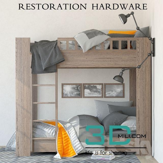Restoration Hardware Callum Bunk Bed Dvuhyarusnye Krovati Postelnye Prinadlezhnosti Dvuhyarusnye Krovati Dlya Malchikov