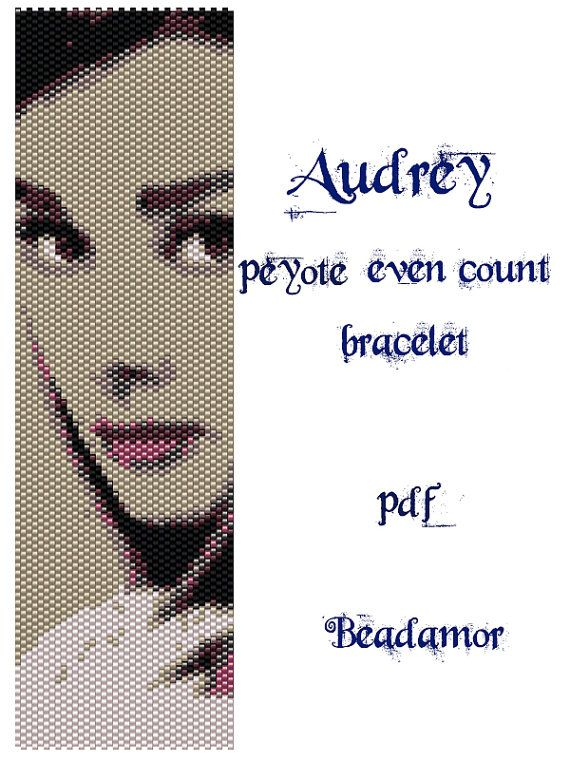 Peyote Pattern for bracelet Audrey INSTANT DOWNLOAD by Beadamor
