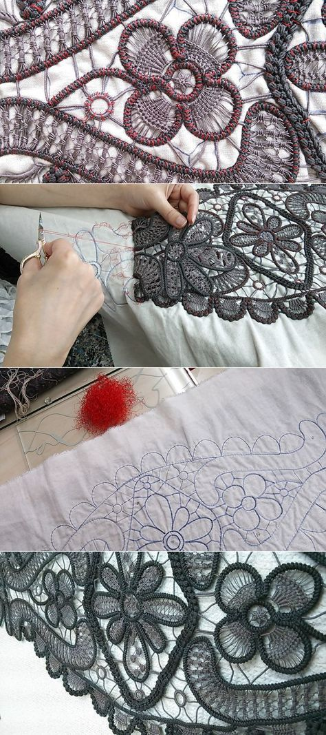 Russian Facebook page with many Romanian/Tape Lace patterns and tutorials including needle lace fill-in instructions