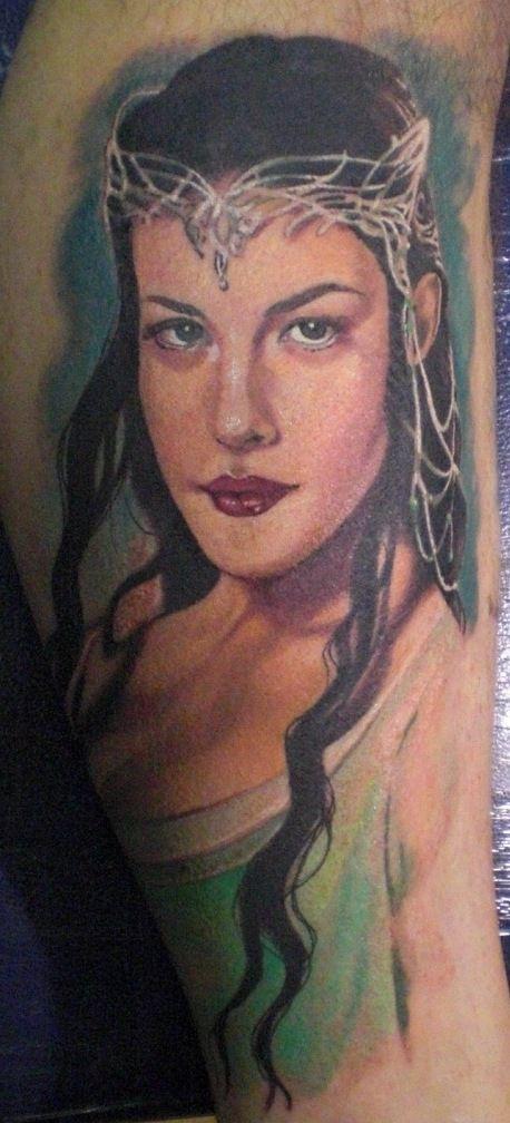 hannah aitchison portraits | Arwen Portrait Tattoo by Hannah Aitchison | TattooPics.org