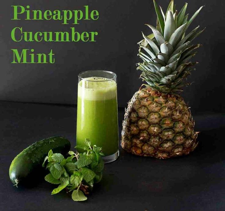 Pineapple, mint & cucumber | Food | Pinterest