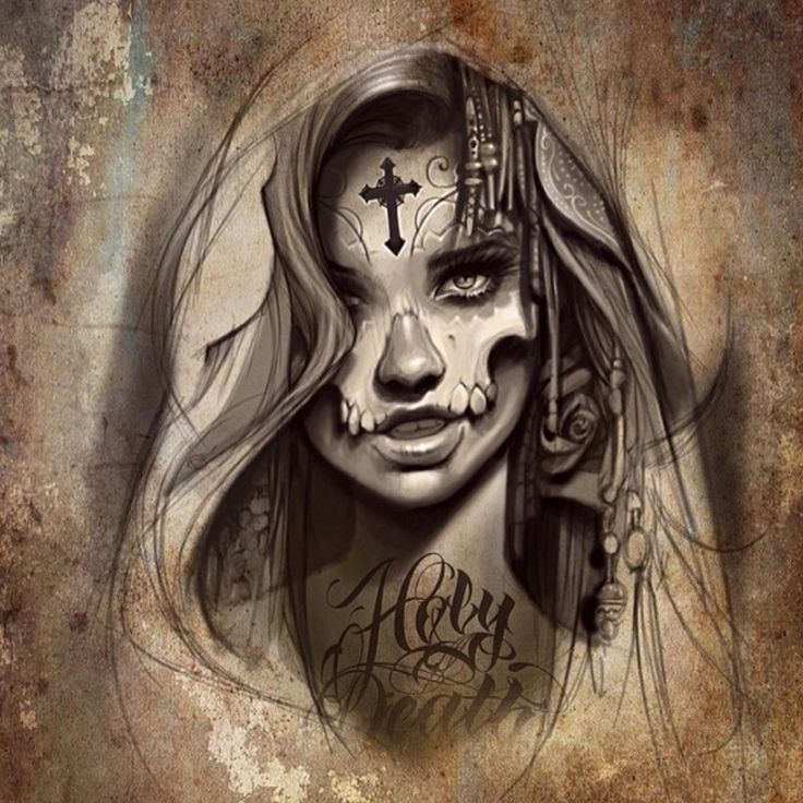 202 Best Catrina Santa Muerte Images On Pinterest Scary Angel And Carnivals