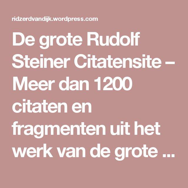 Citaten Rudolf Steiner : Beste ideeën over werk citaten op pinterest