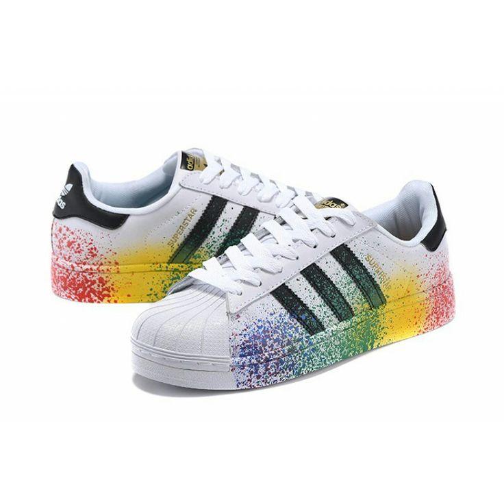 adidas Originals Superstar embellished leather sneakers NET A