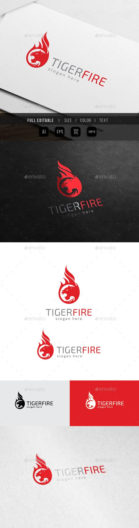 Tiger Fire  Panther Flame — Vector EPS #red #panther • Available here → https://graphicriver.net/item/tiger-fire-panther-flame/10369866?ref=pxcr