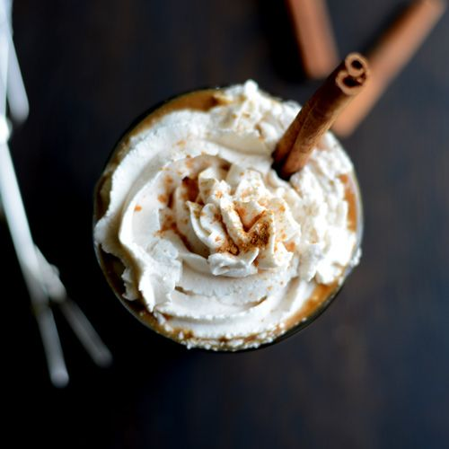 Pumpkin Spice Frozen Latte with Vegan Whipped Cream | Recipe