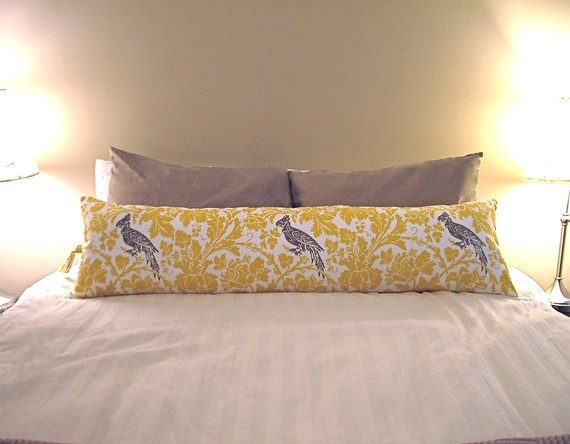Body Bolster Pillow I Have This Fabric And Love The Idea Of Using It For Sew Pinterest Pillows Bedroom