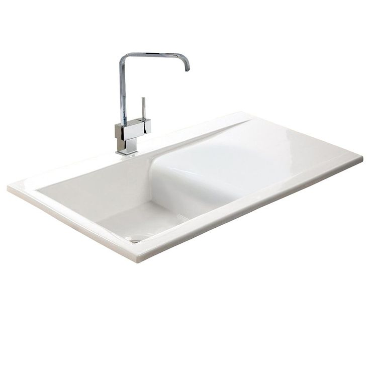 Astini Desire 100 1.0 Bowl Gloss White Ceramic Kitchen Sink, Waste U0026 5E Tap  £