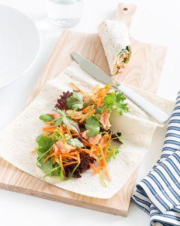 Salmon & Salad Wrap