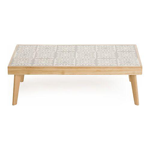 Carrea - Tables basses-Tables basses, Bouts de canapé Table basse en chêne massif et plateau en carreaux de...