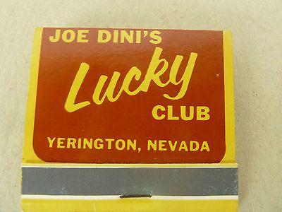 Joe Dini's Lucky Club Keg 'N Kandle Lounge Yerington Nevada Unused Matchbook | eBay