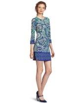 Ali Ro Women's 3/4 Sleeve Paisley Matte Jersey Dress