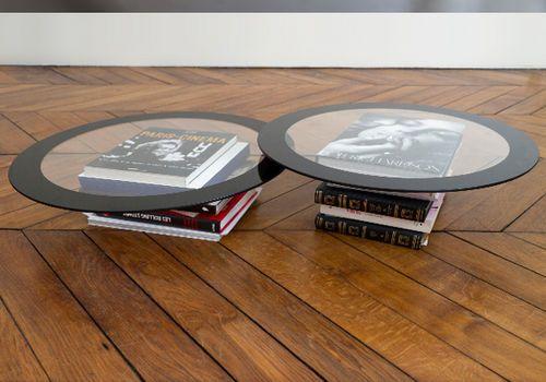 Mesa de centro / redonda / de diseño original / de cristal VODKA & CAVIAR Ann Grim