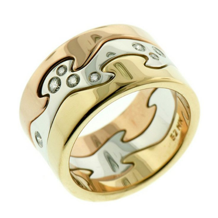 FUSION RING - MIXED GOLD/DIAMOND CENTRE - GEORG JENSEN - SAVE £315! Regular Price: £2,105.00 Special Price: £1,790.00
