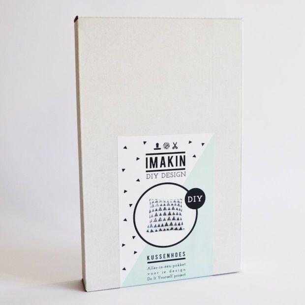 Imakin DIY-pakket kussenhoes stempelen