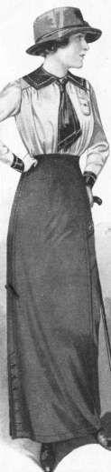Mountaineering skirt & blouse, 1913