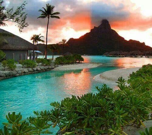 675 best beautiful bora bora images on pinterest for Best tropical honeymoon destinations