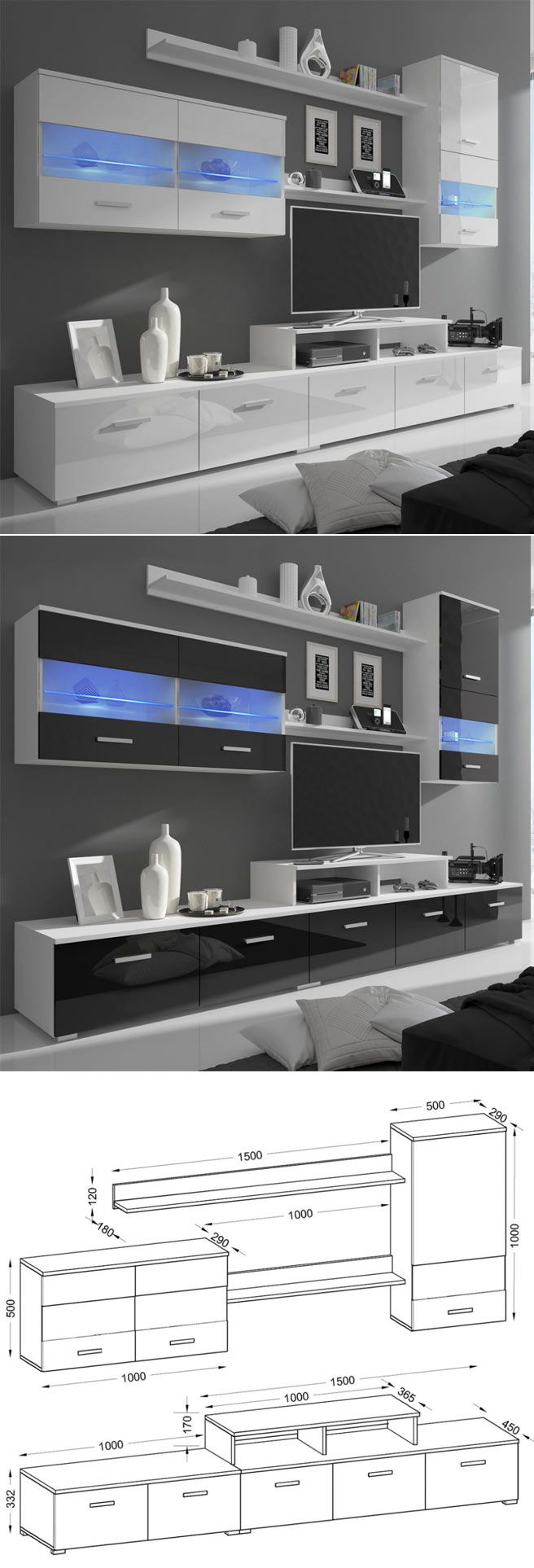 7 Best Home Stuff Images On Pinterest Living Room Wall Units  # Groupon Meuble Tv