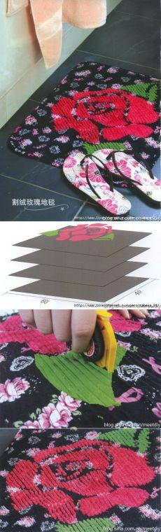 Шьем коврик в технике синель