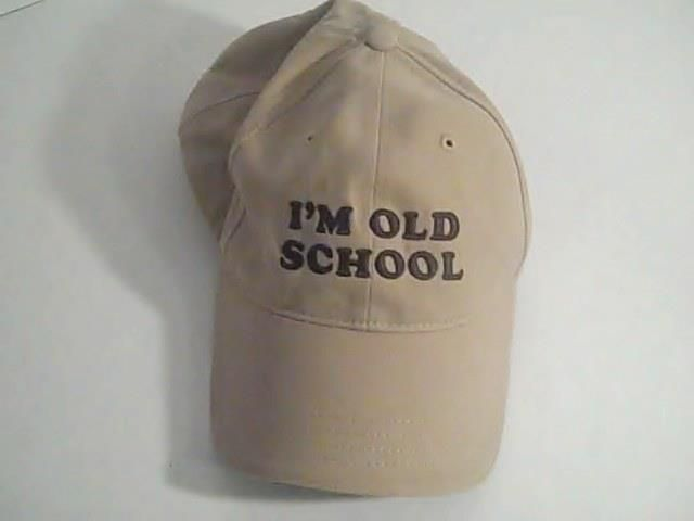 Im Old Scool Sherry Resort Wear Mens Beige Hat Cap Adjustable 100% Cotton #SherryResortWear #BaseballCap