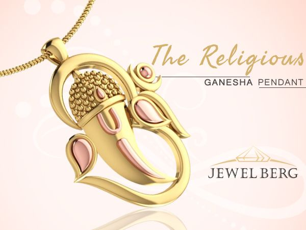 Elegant Gold Ganesha Pendant to make you feel blessed. To make it yours, visit-->http://goo.gl/mqef6D