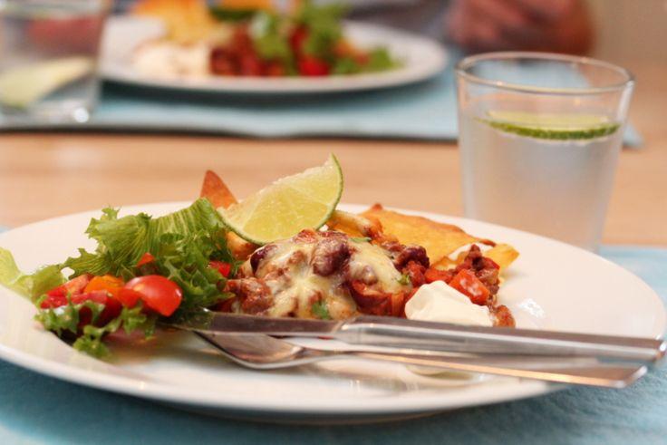 Tacograteng med bønner og gulrot