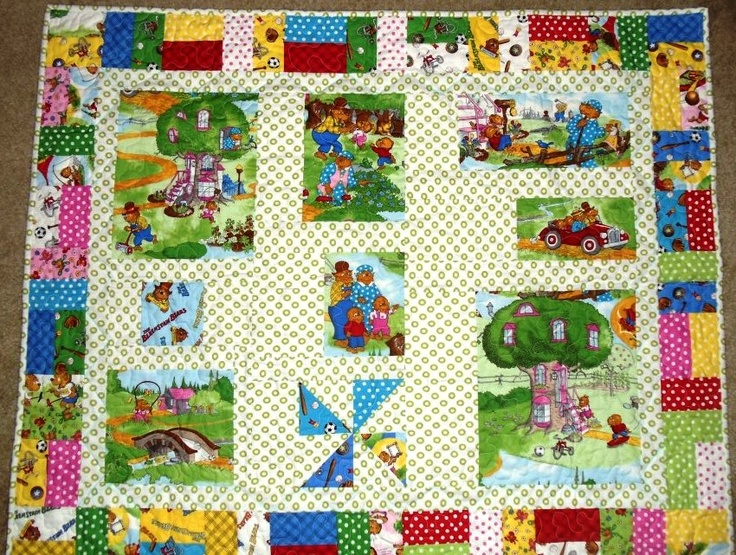 This adorable quilt was made by Misty Hill for her son.  We love the pinwheel at the bottom - perfect for celebrating Pinwheels for Prevention this month!