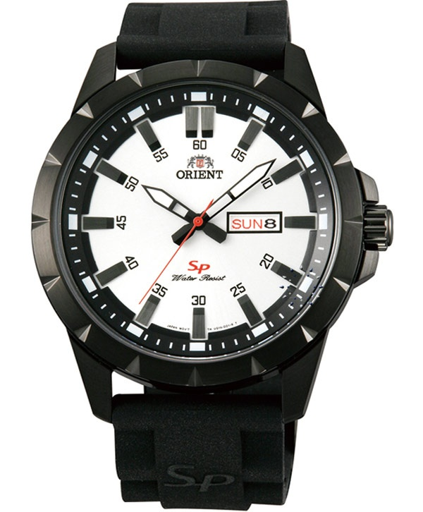 ORIENT Sport Black Rubber Strap  Τιμή: 103€  http://www.oroloi.gr/product_info.php?products_id=32044