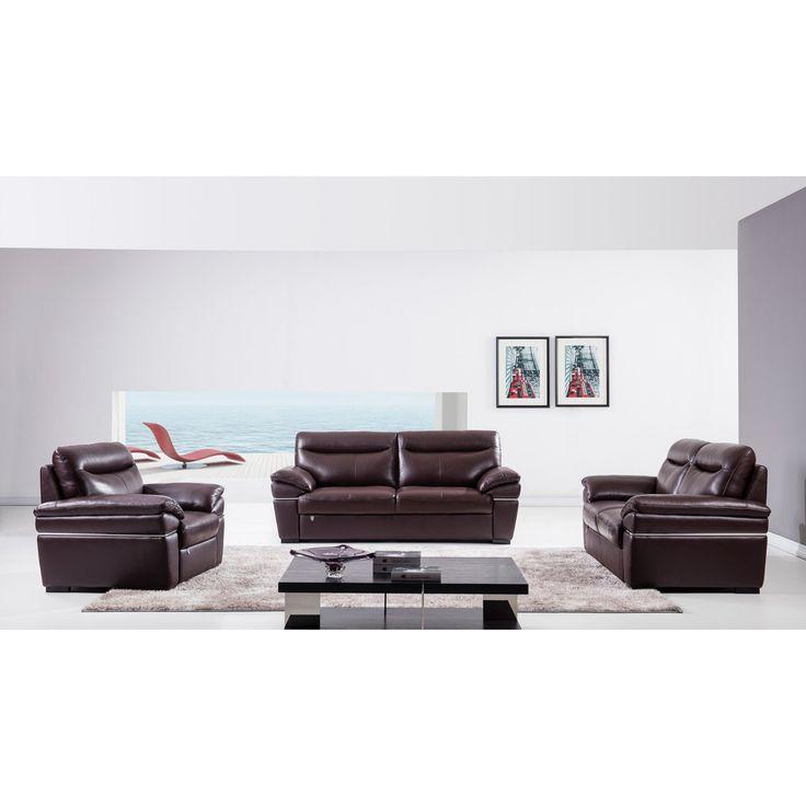 American Eagle Furniture Morris 3 Piece Leather Sofa Set - EK050-DC
