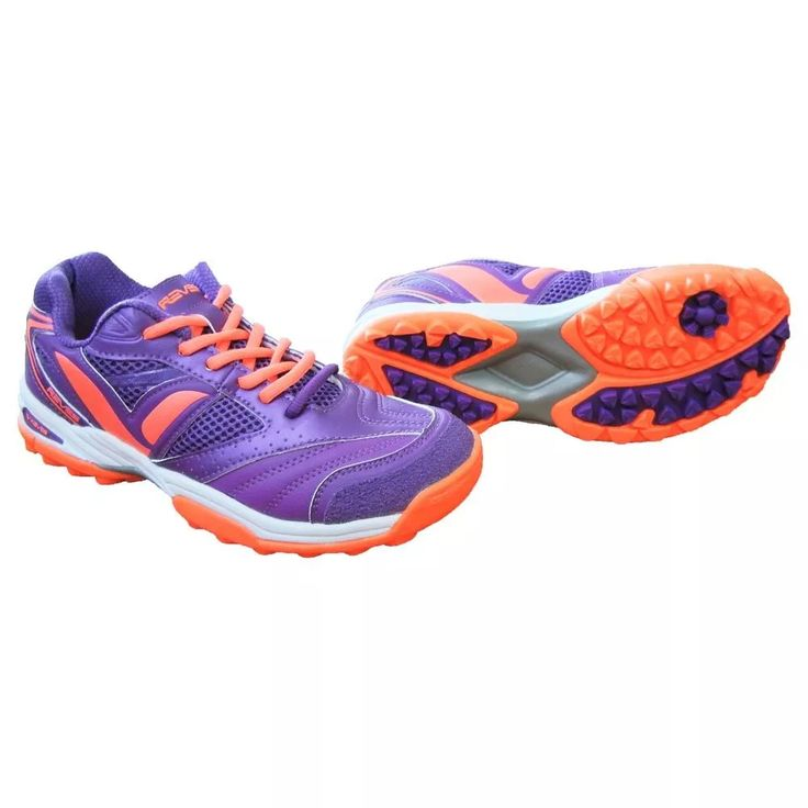zapatillas hockey reves fox iq - violeta / naranja- talle 38