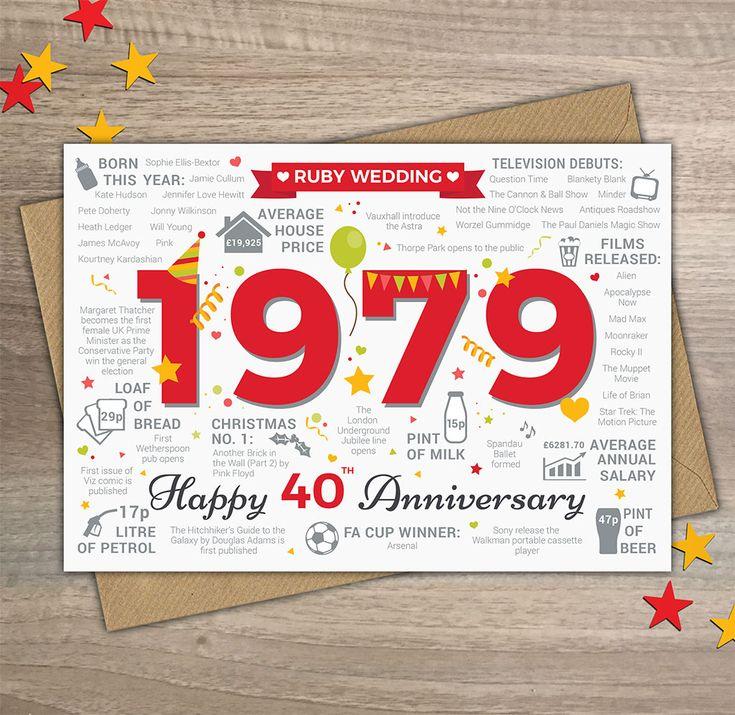 ru wedding card 40th Wedding Anniversary Cards Design 2019
