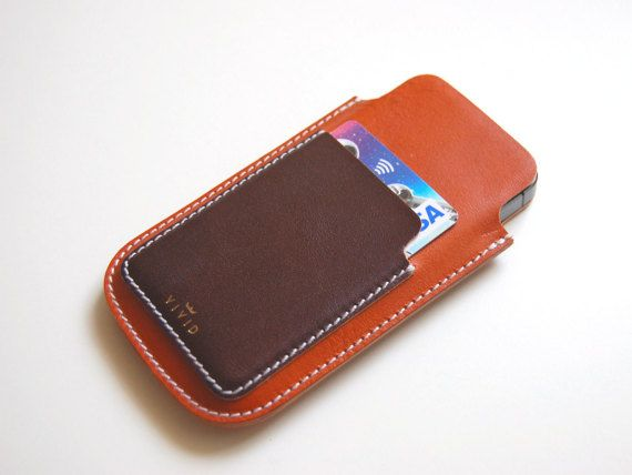 Leather Wallet Case / Sleeve for iPhone 5 / by VIVIDleathergoods