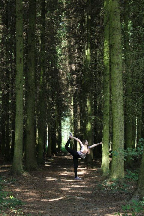 Yoga in the forest. #Yoga Pose #Nature