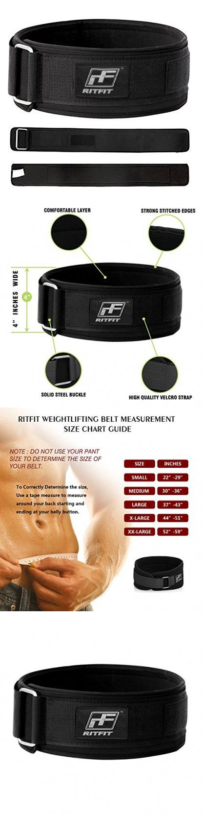 RitFit Weight Lifting Belts 4 Inches (XXL)