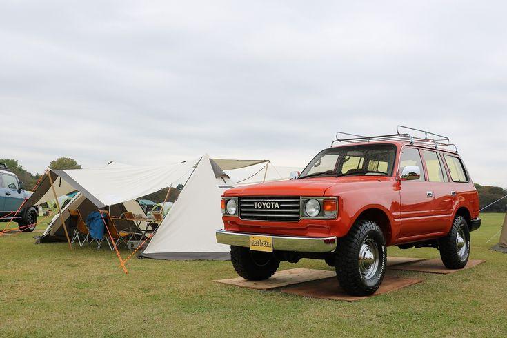 ランクル80丸目 OgawaツインピルツフォークTC アウトドアフェスティバル@国営昭和記念公園 Toyota Landcruiser80