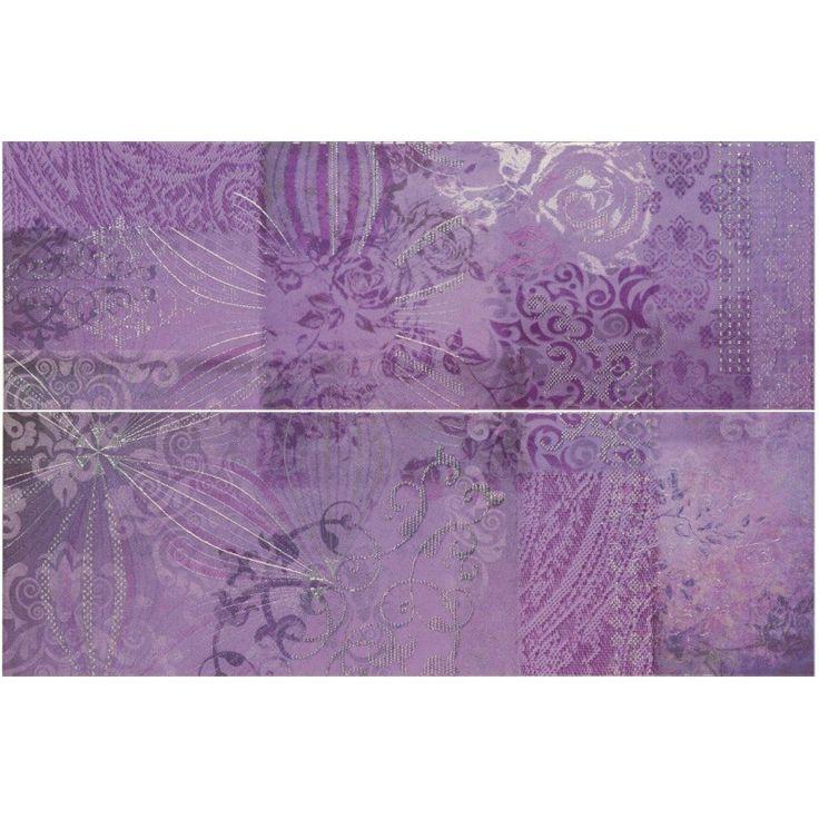 Essance purple feature wall tile