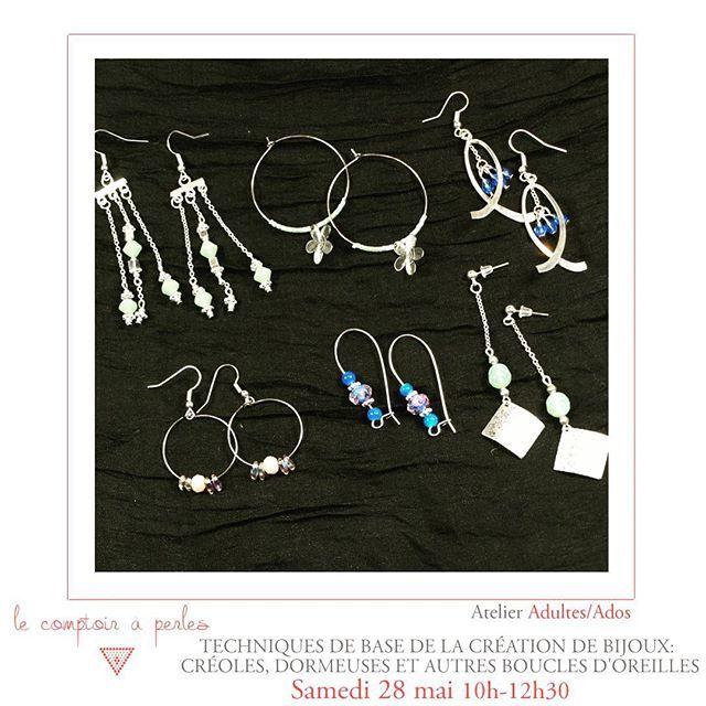 ATELIERS - Marre des week-ends pluvieux? Profitez-en pour stimuler votre créativité et vous initier à la création de bijoux! Au programme, les boucles d'oreilles sous toutes les formes pour les adultes/ados! Reservez votre place -> lien dans la bio :) #lecomptoiraperles #perles #BO #beads #bouclesdoreilles #bouclesdoreillesenfolie #atelier #workshop #beading #handmade #faitmain #handmadejewelry #fashion #customized #couleurs #paris #boheme #creation #creativity #DIY #instajewels…
