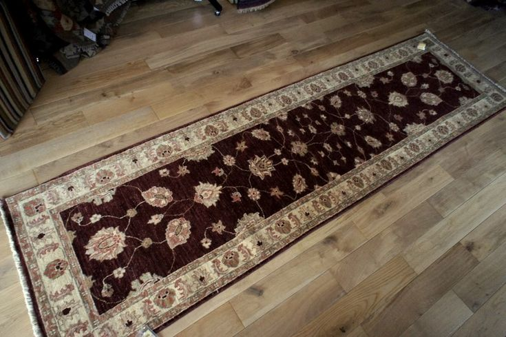 Hand Knotted Ziegler Runner from Afghanistan. Length: 296.0cm by Width: 82.0cm. Now only £489 (Was £590) at https://www.olneyrugs.co.uk/shop/runners-for-sale/afghan-ziegler-14197.html    Take home one of our amazing mixture of Turkish carpets, kilim ottomans and Kilim cushions at www.olneyrugs.co.uk
