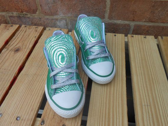 Hypnotize print custom made Chuck Taylor by JAMCouture4u on Etsy, $75.00