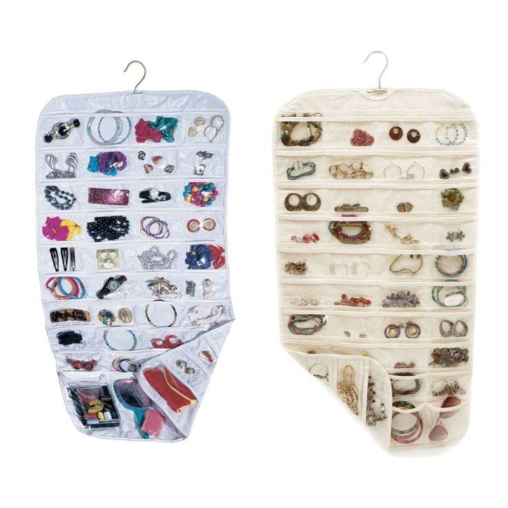 Earring Bag Transparent Business Membership Card Holding Bag 80 Pocket Jewelry Hanging Storage Organizer Holder
