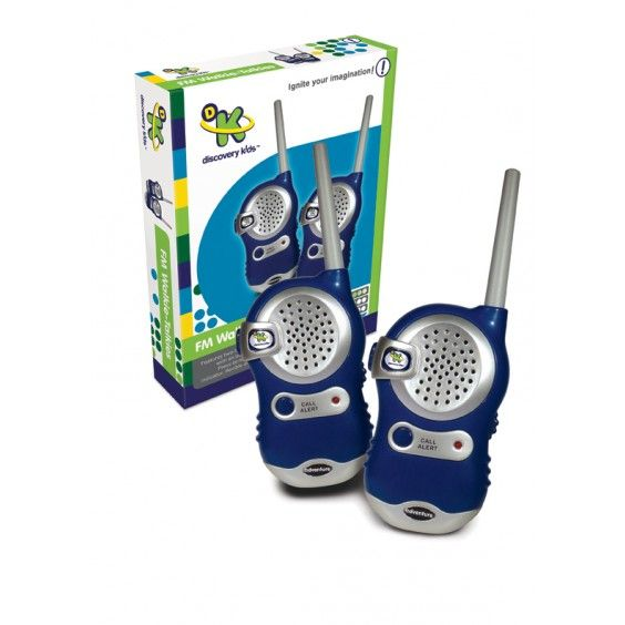Discovery Kids - FM Walkie Talkies - Christmas Catalogue - Our Products - Entropy Australia  How much would the kids love these?! Seeing as they get a real kick out of using the 20 year old ones of Dad's - these would be awesome. #Entropywishlist #pintowin