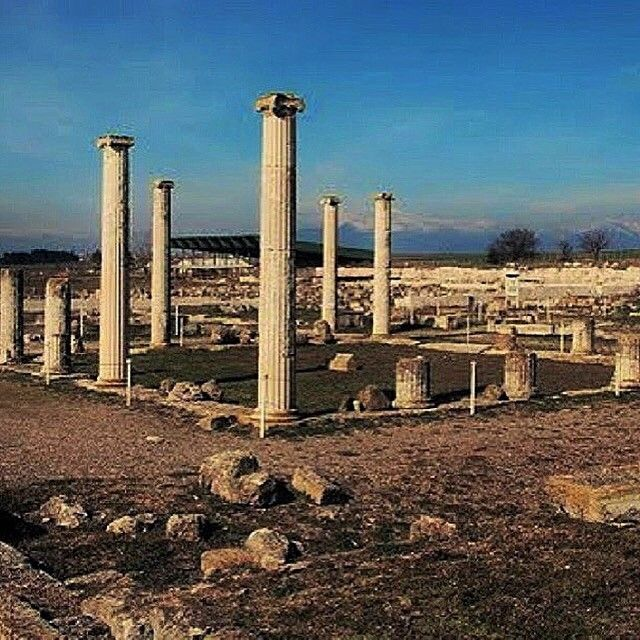 Ruins of Ancient Pella, a birthplace of Alexander The Great. Pella, Macedonia, Greece.