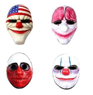 Cheap buy Payday2 Movie Mask : Dallas,Hoxton,Wolf,Chains Resin Mask