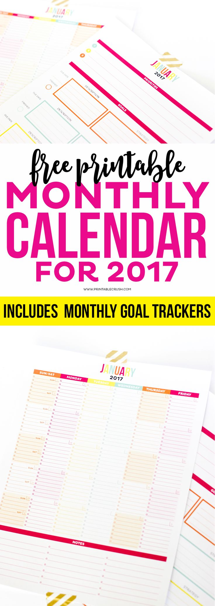 Weekly Calendar With Room For Notes : This is the most functional printable monthly calendar it