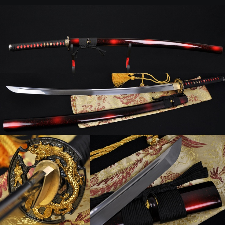 "41"" Handmade Japanese Samurai Battle Ready Dragon Sword Katana 1060 Steel Blade | eBay- I love this sword"