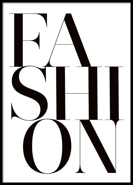 Fashion posters and prints. Quotes and text.