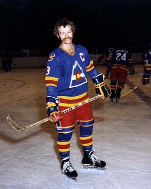 Lanny Mcdonald in a Colorado Rockies uniform.