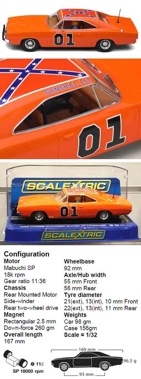 Scalextric C3044 Dukes of Hazzard General Lee Dodge Charger