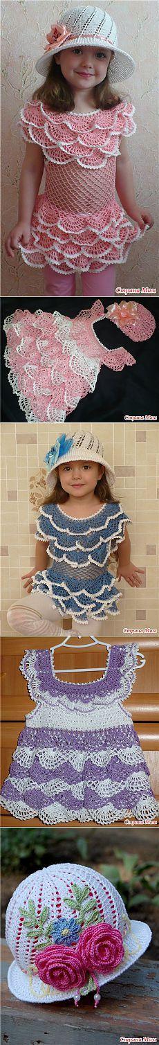 Платье с рюшами для маленькой модницы